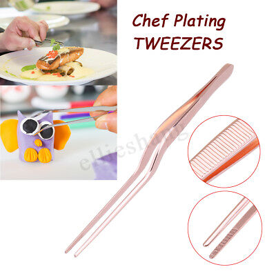 5.47inch Mini Stainless Steel Cooking Tweezer Tongs Salsd Serving Kitchen - Mini Tongs