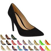 Black Court Shoes Size 6
