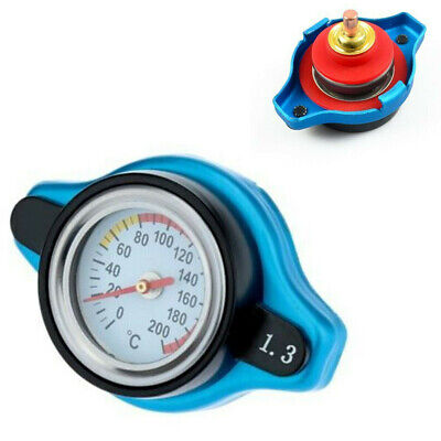 Thermostatic Temperature Gauge Radiator Cap Cover 1.3 Bar Small Head Fit For Car