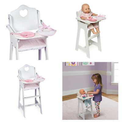 Baby Doll High Chair American Girl Doll Food Furniture Accessories Pink White