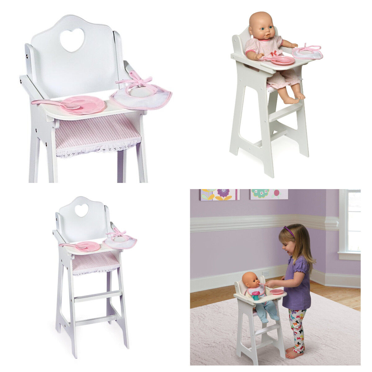 Baby Doll High Chair American Girl Doll Food Furniture Acces