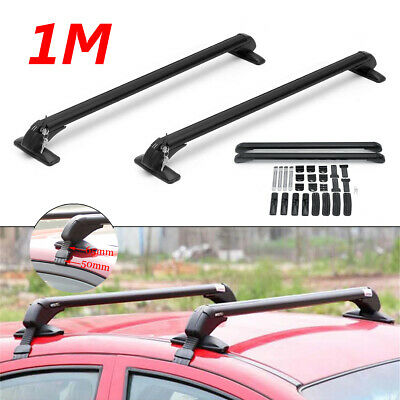 "47"" Aluminum Car Top Roof Luggage Rack Cross Bar Carrier Adjustable Window Frame"