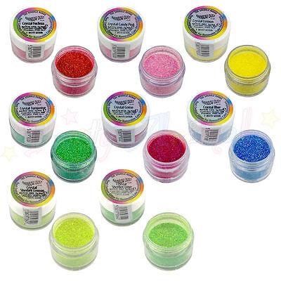 Rainbow Dust Cake glitter - Crystal FULL SET of 8 - Cake decoration Glitters