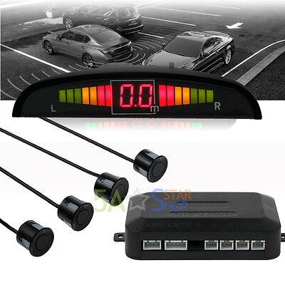 Einparkhilfe mit LED Display 4 Sensoren in Schwarz Rückfahrwarner Parkhilfe PDC