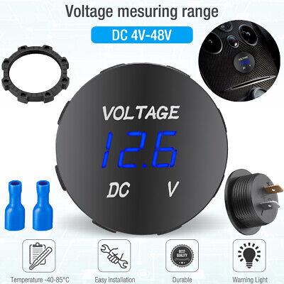 Led Digital Display Voltmeter Car Motorcycle Voltage Gauge Panel Meter 1224v Dc