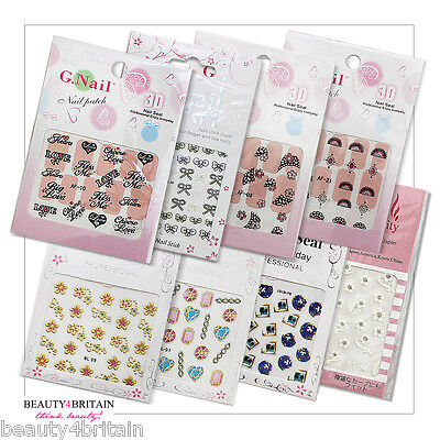 72 Sets of 3D Nail Stickers 20+ Different Designs Wholesale Nail Art Job Lot UK