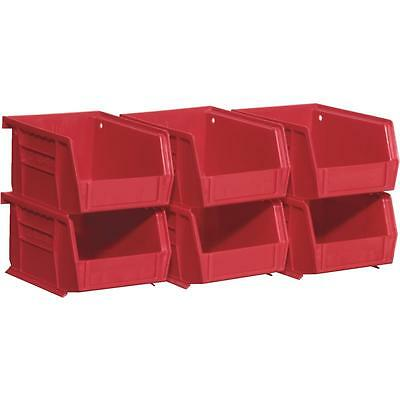 Akro Mills 6Pk Red Small Bin