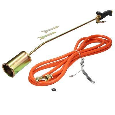 Propane butane gas torch burner 5 metre hose blow roofers plumbers kit weed burn