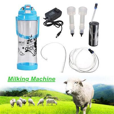 Goat-sheep Milker Hand Vacuum Machine Electric Impulse Type 3l 0.8 Gal 2 Teats