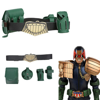 Judge Dredd Costumes (Judge Dredd Belt Leather Gun Bag Cosplay Costume Props 4 Pouches Accessories)