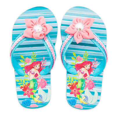 NWT Disney Store Ariel Flip Flops Sandals Shoes Girls Little Mermaid many sizes
