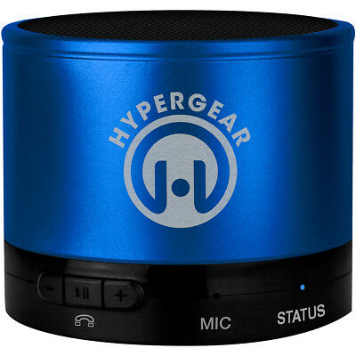 HyperGear MiniBoom Wireless Bluetooth Speaker w/ Built-In Microphone - Blue