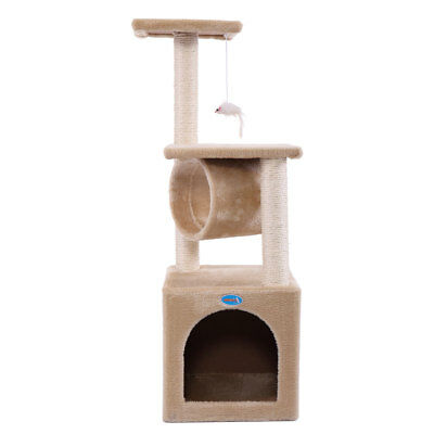 Deluxe 36  Cat Tree Condo Furniture Play Toy Post Kitten Pet House Beige