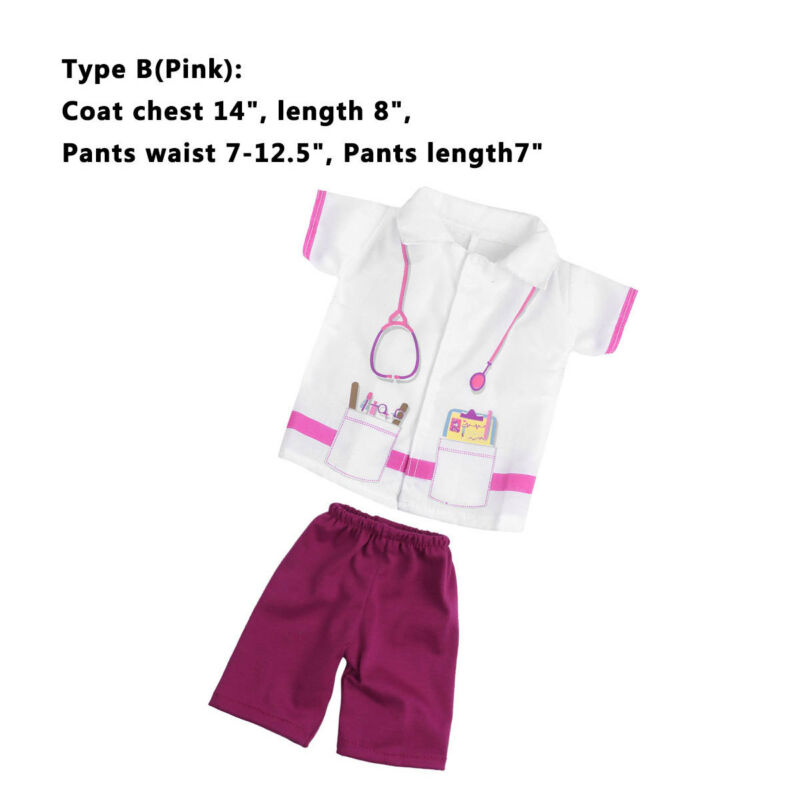 """7pcs Doll Doctor Nurse Clothes Outfit for 18/"""" Our Generation Dolls Boys Girls"""
