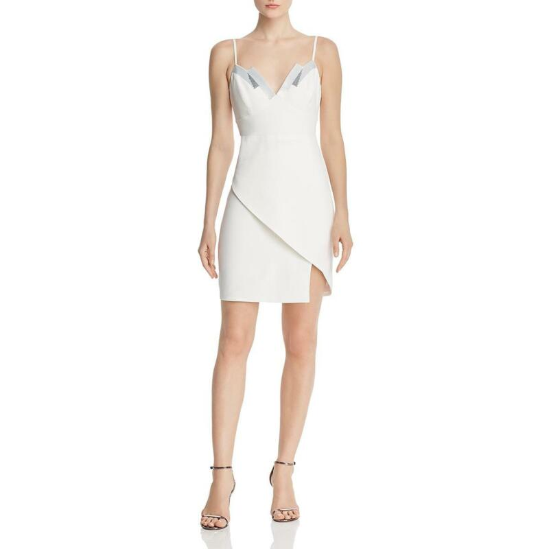 BCBGMAXAZRIA Womens Sequined Banded Party Cocktail Dress BHFO 7767