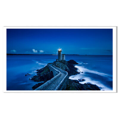 lighthouse Seascape Painting Print on Canvas Poster Home Decor Wall Art Picture