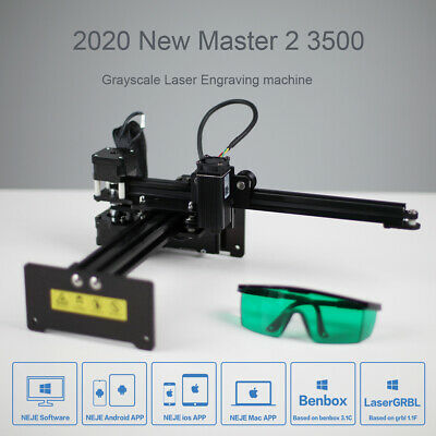 Neje Master 2 3500mw Cnc Laser Engraver Logo Marking Engraving Machine Diy Kit