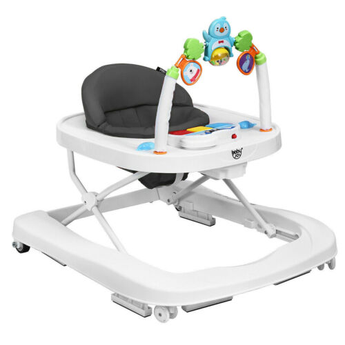 Baby Walker Activity Center With Wheels Foldable Sit to Stand Walking Helper New