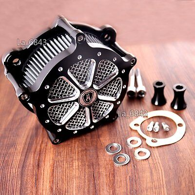 Shallowcut Venturi Air Cleaner Intake Filter System For Harley Softail 96-13