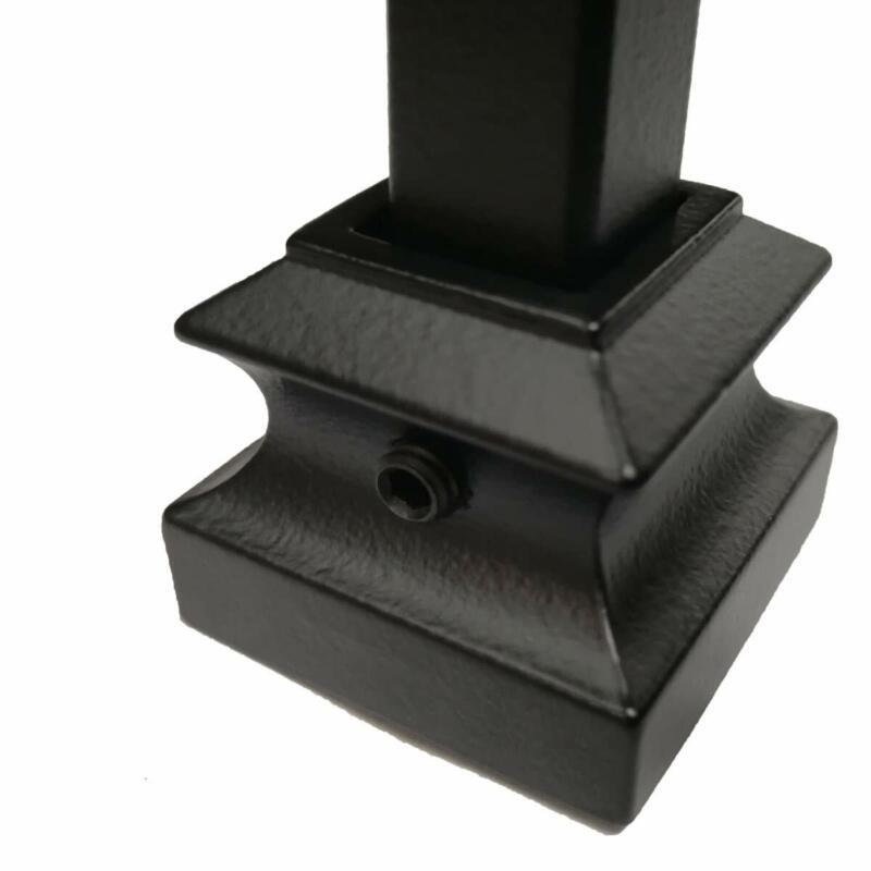 "Knuckle Baluster Shoe for 1/2"" Square Metal Spindles10ct. Real Satin Black"