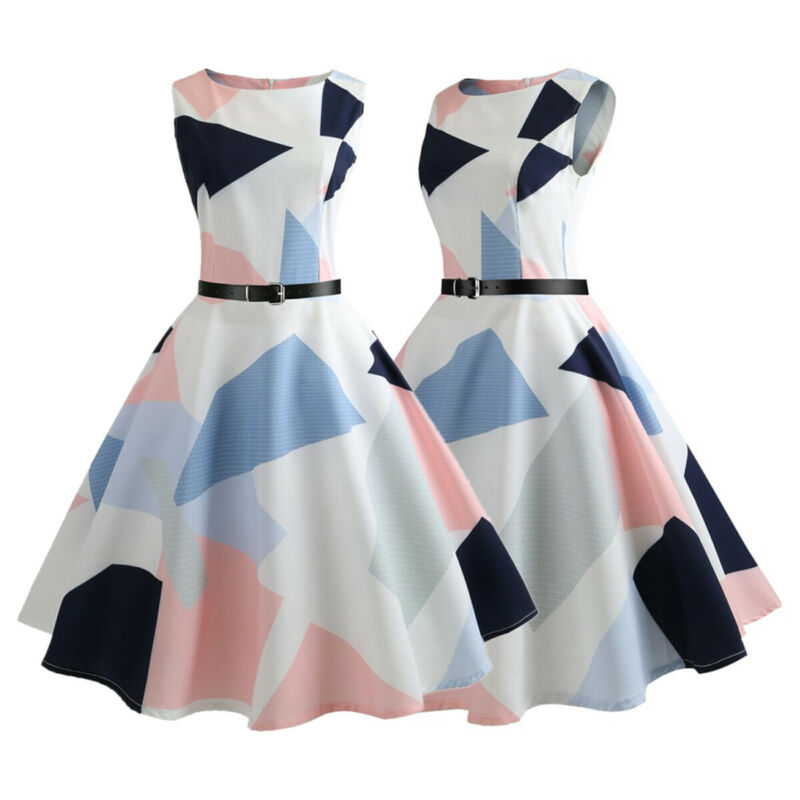 Plus Size Women Vintage Rockabilly Strappy Dress Pinup Gown Festival Party Dress Clothing, Shoes & Accessories