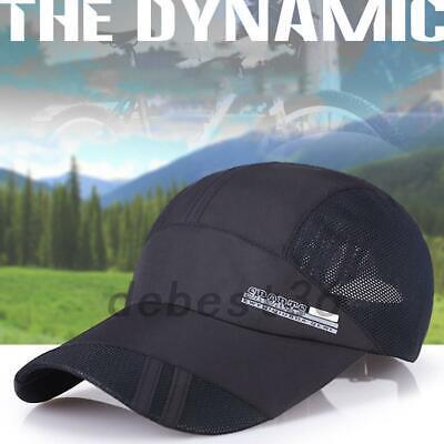 2pcs Men Summer Outdoor Sport Baseball Cap Mesh Hat Travel Visor Sun Caps Sunhat