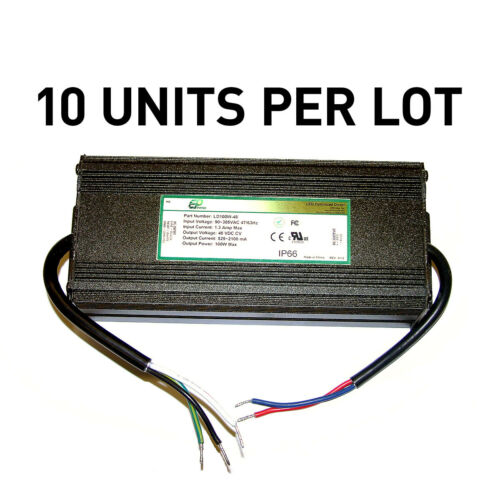 [LOT OF 10] NEW EPtronics 100W LED Drivers, Constant Voltage 48V, UL Recognized