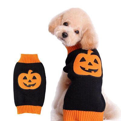 Dog Puppy Halloween Pumpkin Costume Pet Cat Costumes Sweater Warm Winter Dress](Pumpkin Dog Costumes)