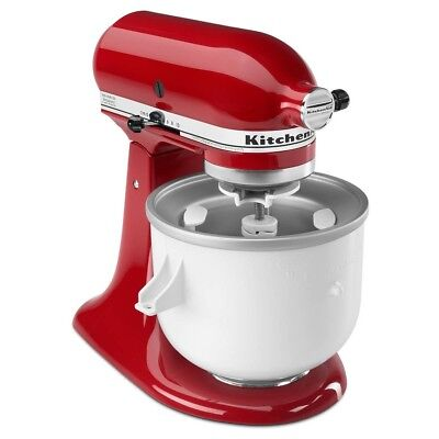 Kitchenaid Ice Cream Maker Attachment Sorbet Yogurt Kica0wh Fits 4 5 Qt   Larger