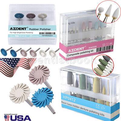 Dental Contra Angle Handpiece Composite Polishing Kit Rubber Polisher Resin Base