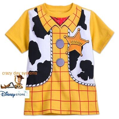 Disney Store Toy Story Woody Costume Boy Short Slve T  Shirt 2 3 4 5 6 7 8 10