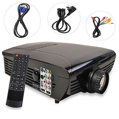BEST HD Home Theater Multimedia LCD LED Projector 720-HDMI TV DVD Playstation