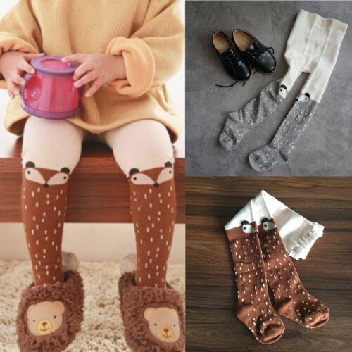 2 colors Baby Kid Girl Cotton Fox Tights Socks Stockings Pants Hosiery Pantyhose