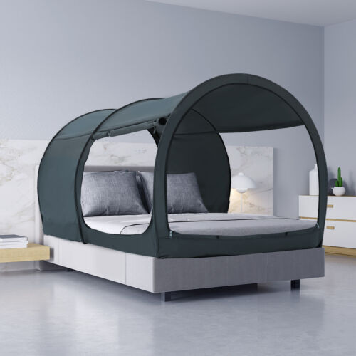 Canopy Bed Tent Pop Up Portable Privacy Queen size Sleeping Tents curtains Indoo