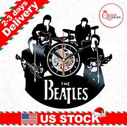 The Beatles Clock Vinyl Record John Lennon Wall Art Room Decor LP Christmas Gift