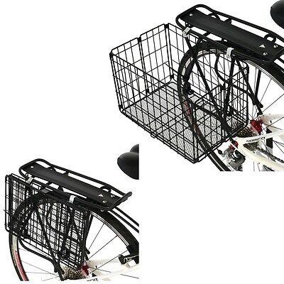 "Axiom Folding Rear Basket-13"" X 7.5"" X 9""-Black-Rear-Bike Rear Rack Folding-One"