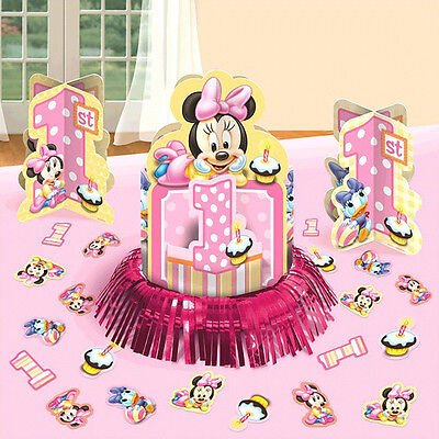 1st Birthday Minnie Mouse (Disney Baby Minnie Mouse 1st Birthday Party Table Centerpiece Decoration Kit)