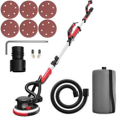 Electric Drywall Sander 750w Adjust Variable Speed W Vacuum Appendix Light