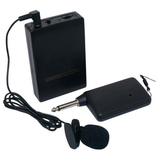 Wireless Cordless Clip-on Lapel Tie Microphone Mic Transmitt