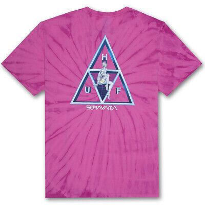 Huf x Sorayama TT Wash T-Shirt - Pink Men's Tee Tie Dye