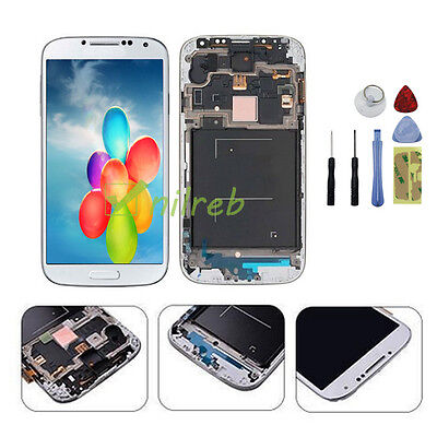 White Samsung Galaxy S4 i337 M919 LCD Touch Digitizer Screen Replacement + Frame on Rummage