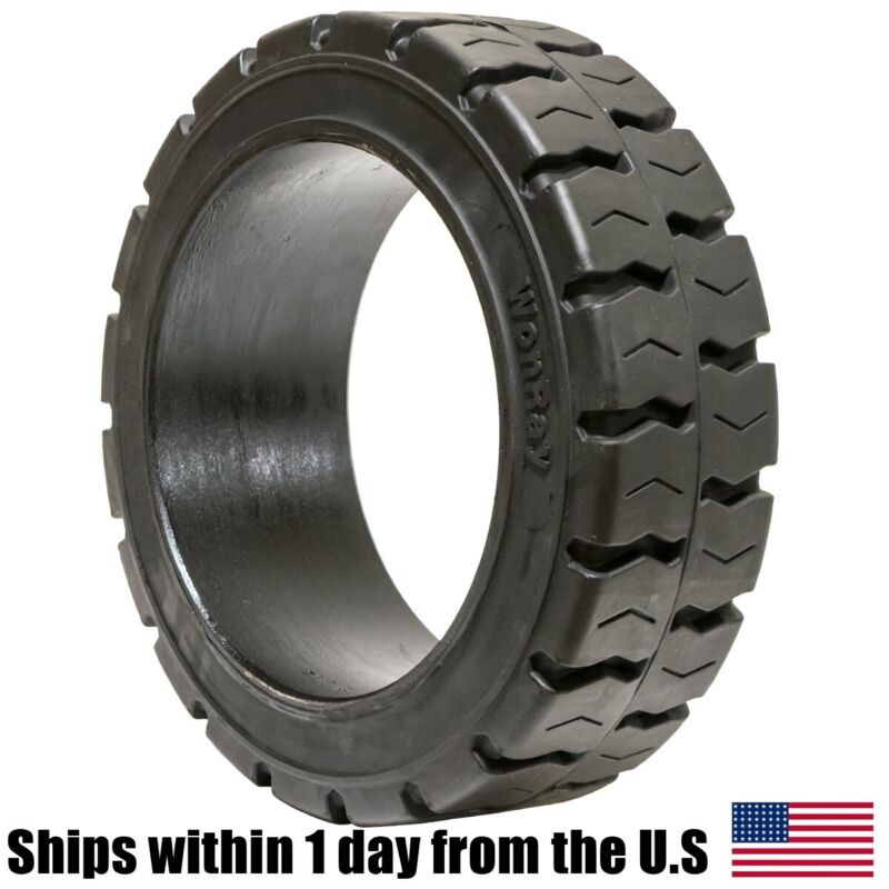20X8X16 20X8-16 Solid Puncture Proof Press-On Traction Forklift Tire 20816