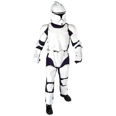 Deluxe Clone Trooper Costume Adult Star Wars Halloween Fancy Dress