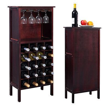 Weinregal aus Holz Flaschenregal Kolonialstil Weinständer Holzregal Weinschrank