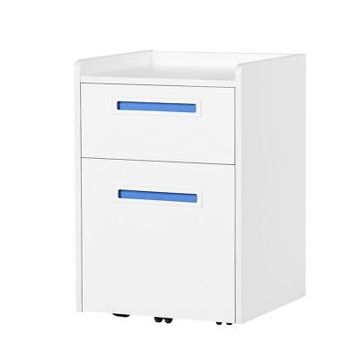Orford 2 Drawer Wood Mobile Filing Cabinet Storage Furniture A4letter Size