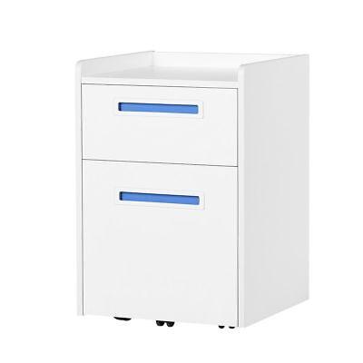 Orford 2 Drawer Wood Mobile Filing Cabinet Storage Furniture A4letter Size