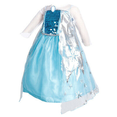 Snow Queen Elsa Princess Party Dress Costume Birthday Party Dress Up for Girls - Snow Queen Elsa Dress