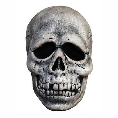 Halloween-3 Maske (Halloween 3 Season Of The Witch Skull Adult Mask w/ Attached Shamrock Button Tag)