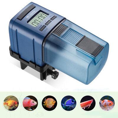 Adjustab Automatic Fish Feeder Tank Aquarium LCD Display Timer Feeding Dispenser