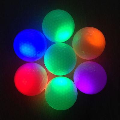 White Fluorescence Light-up Luminous Night Light Glowing Golf Ball Color rf ()